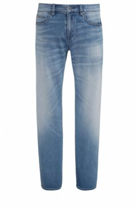Jeans Slim Fit en denim ultra stretch, Bleu