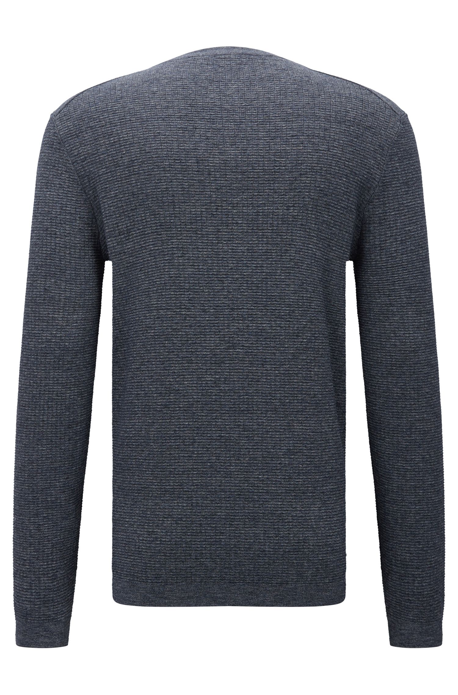 Pull Slim Fit en coton effet denim