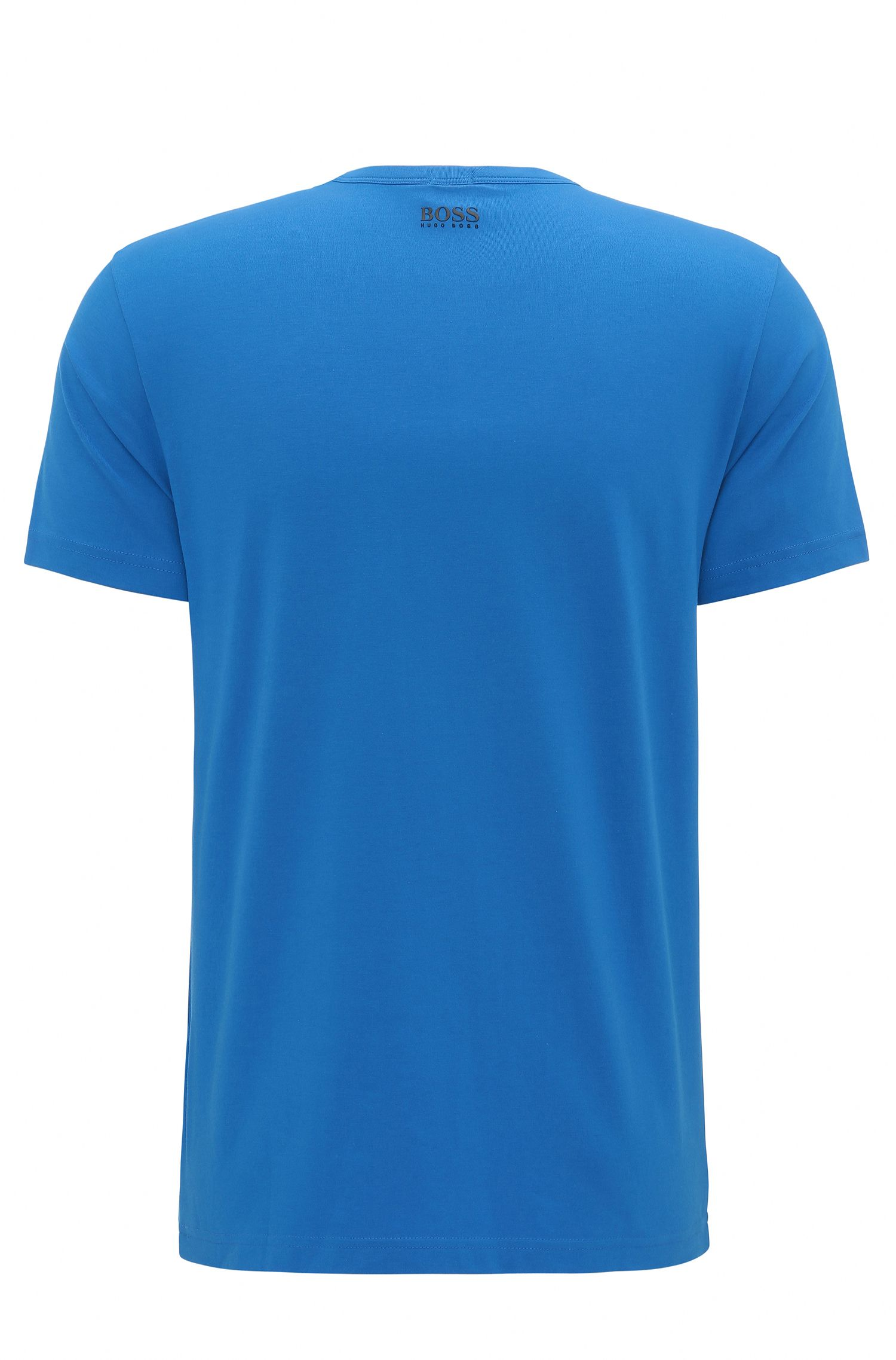 Regular-fit logo T-shirt in stretch cotton