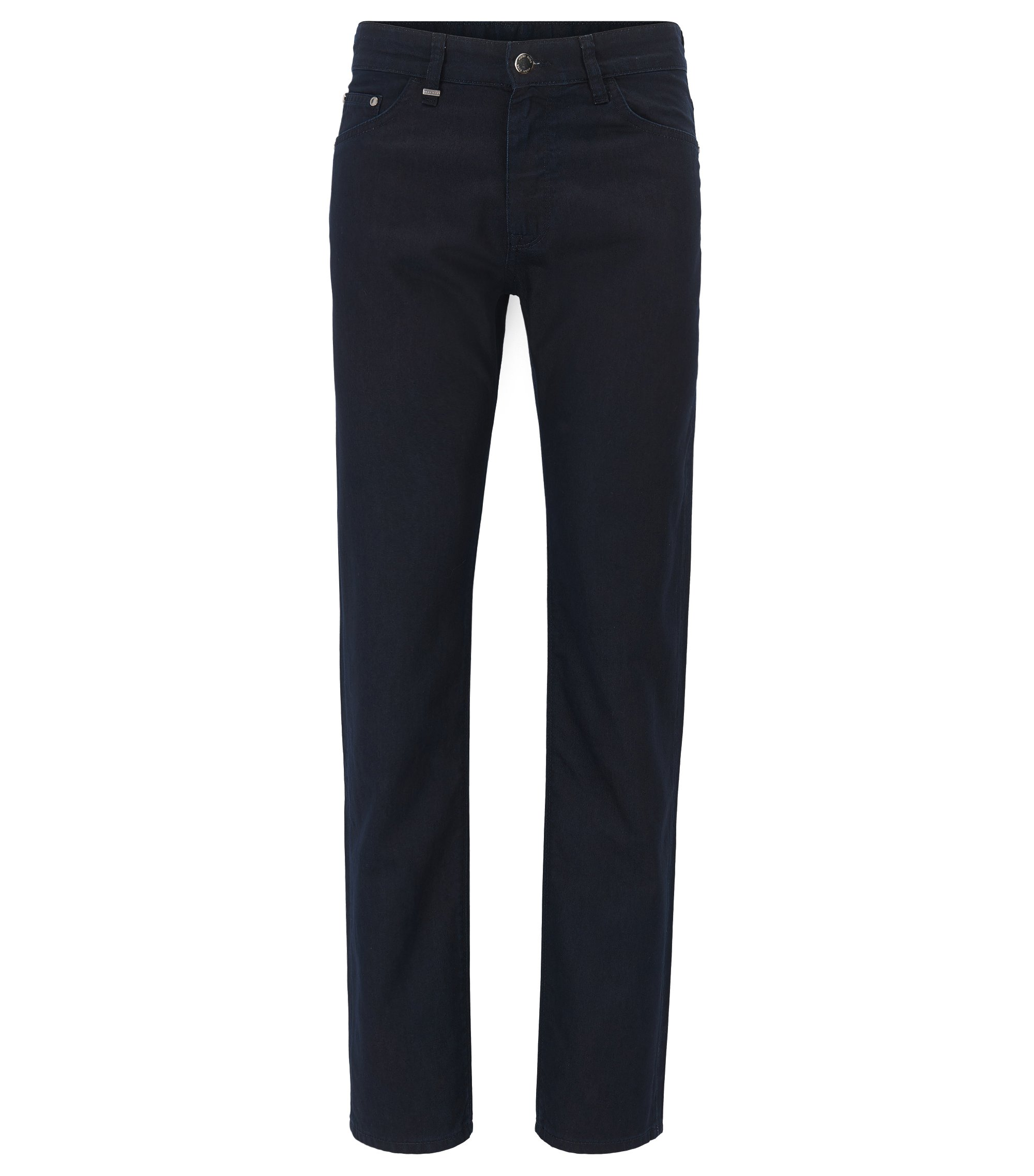 Jeans regular fit in misto cotone-seta , Blu scuro