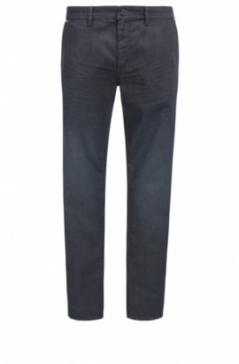 Tapered-fit jeans in comfort-stretch denim, Dark Blue