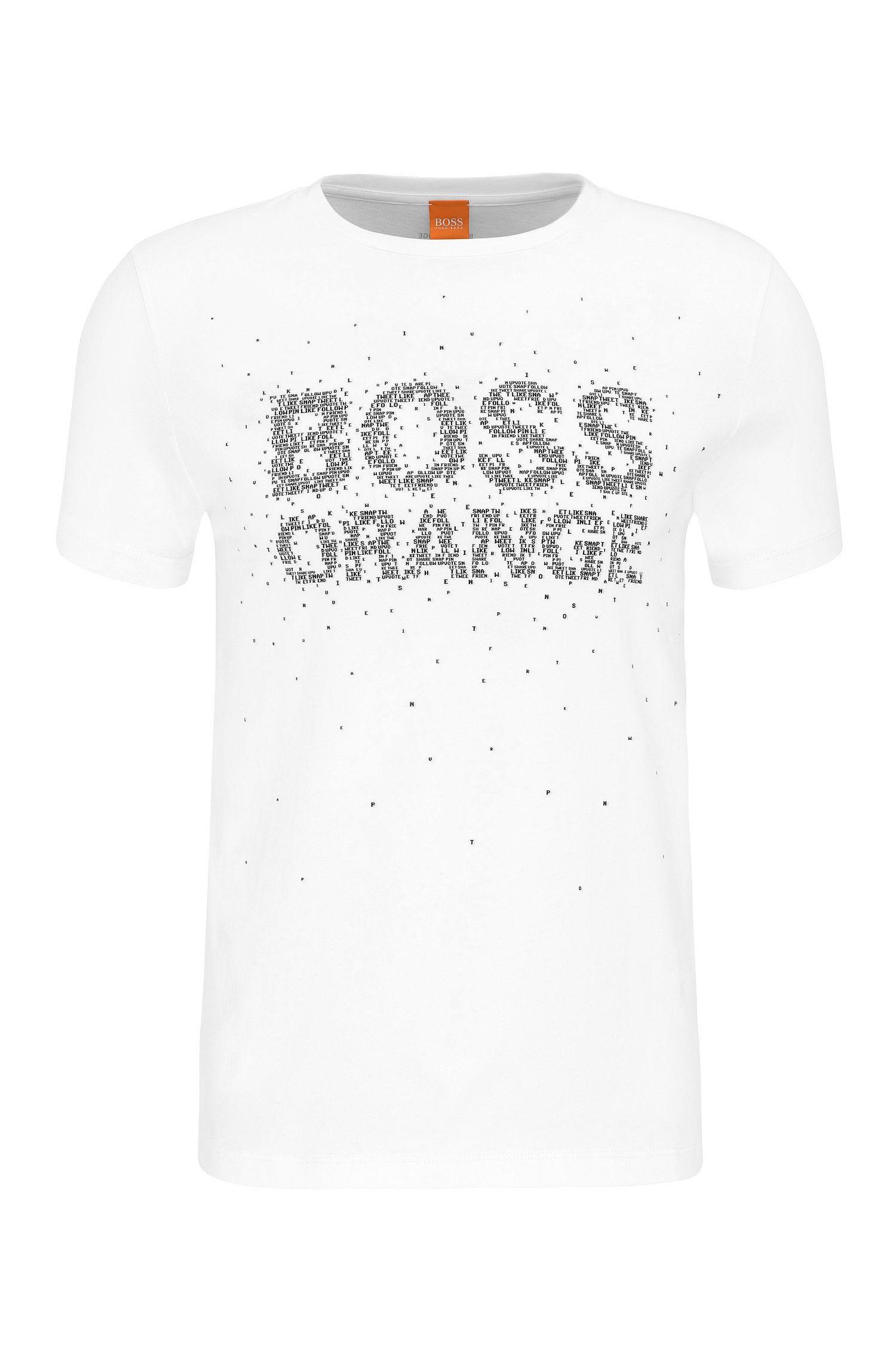 T-shirt regular fit in cotone con stampa del logo rivisitata