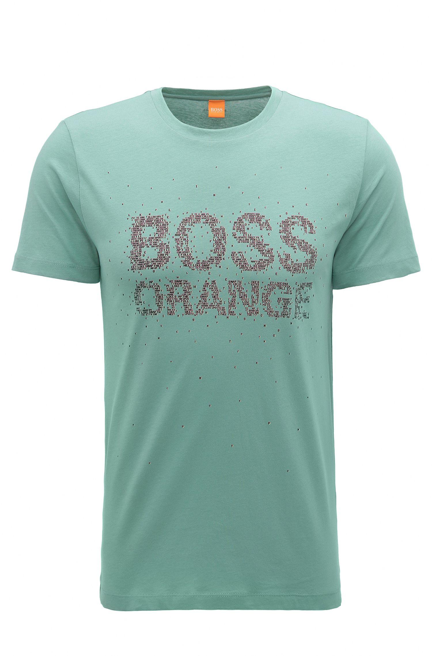 Regular-Fit T-Shirt aus Baumwolle mit neuem Logo-Print
