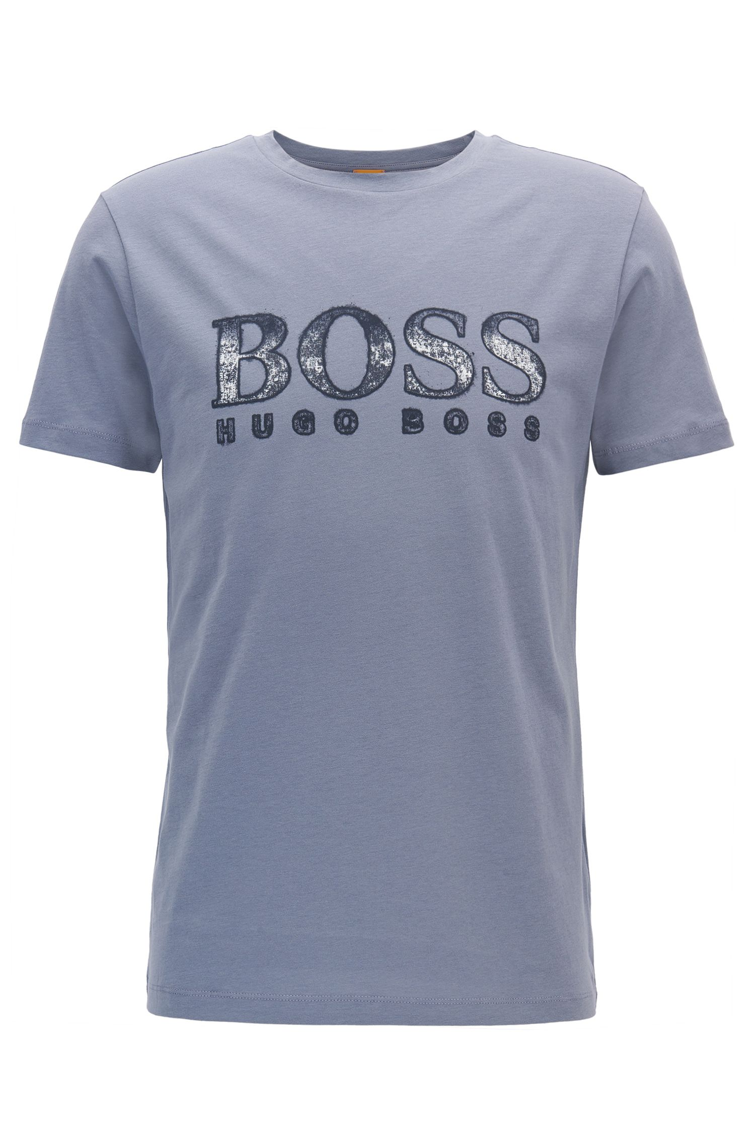 Regular-fit logo T-shirt in cotton