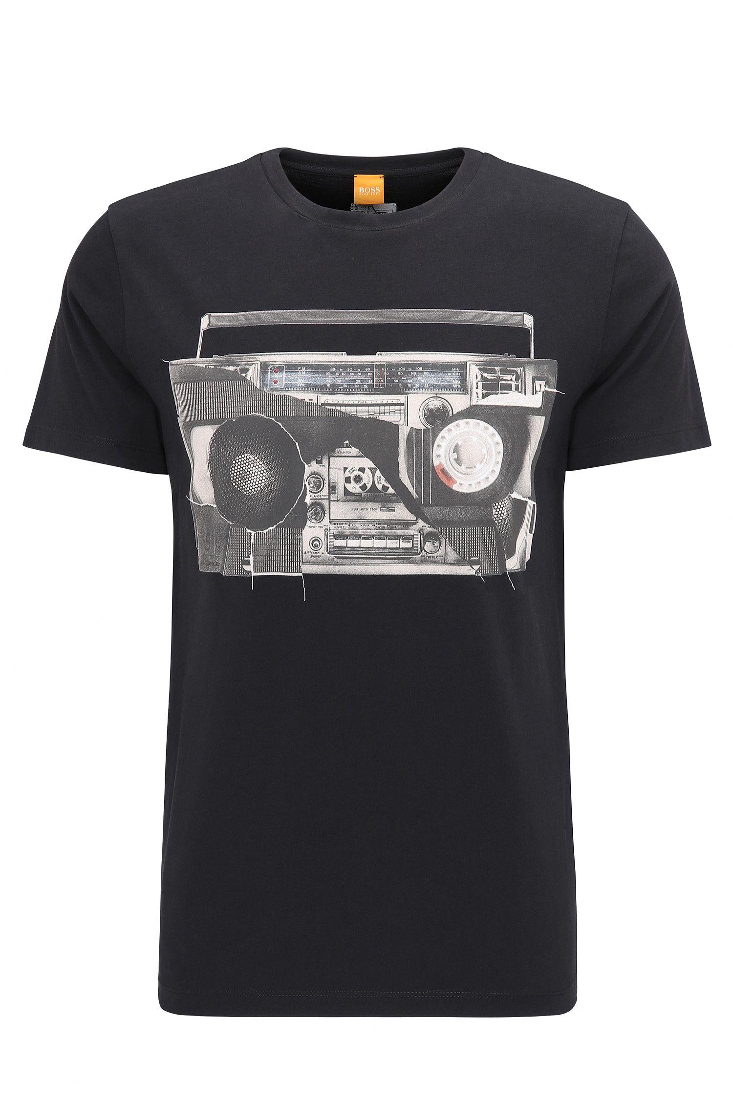 Regular-fit T-shirt van katoenen jersey met digitale print