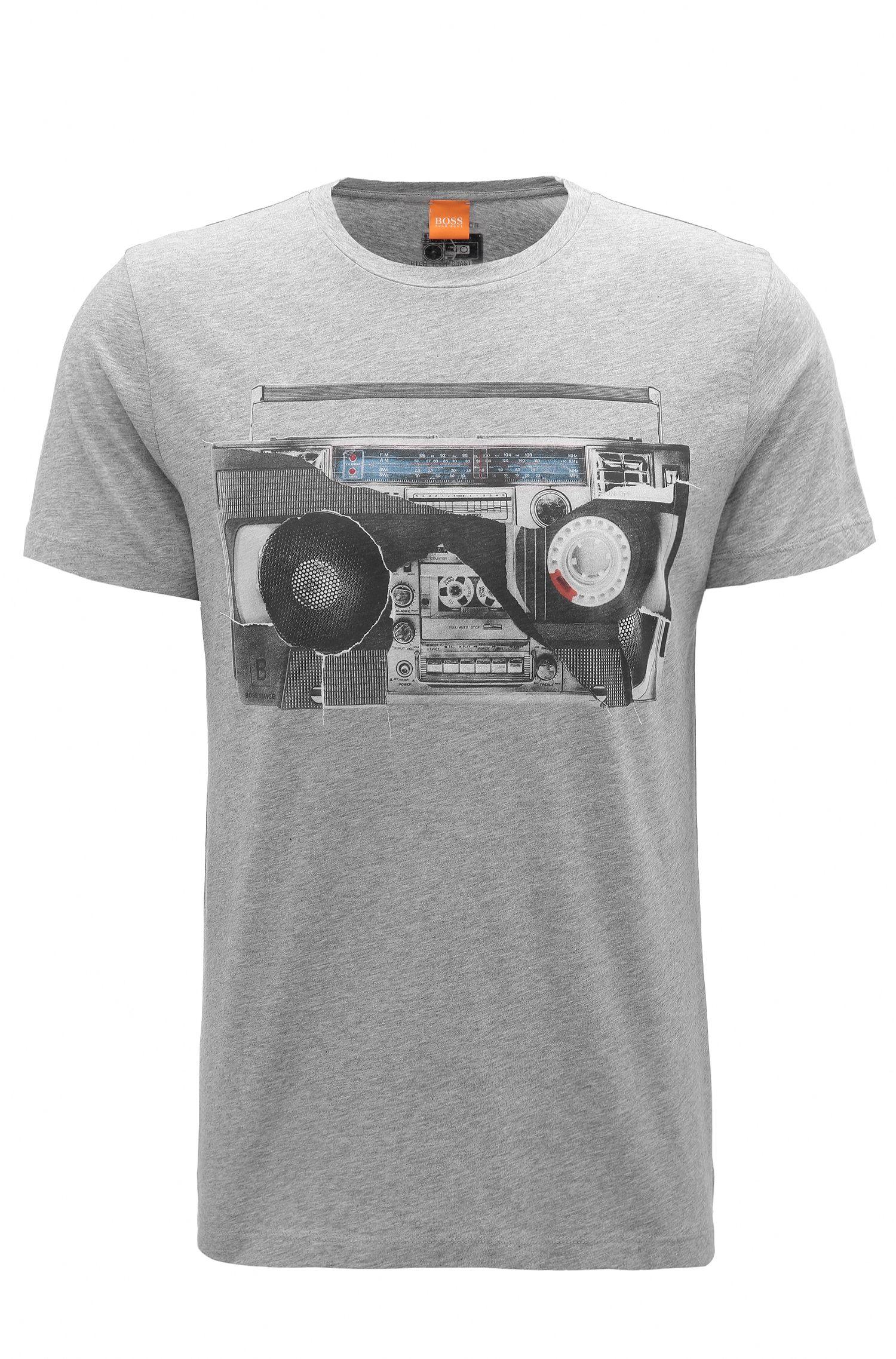 Regular-Fit T-Shirt aus Baumwolle mit Digital-Print