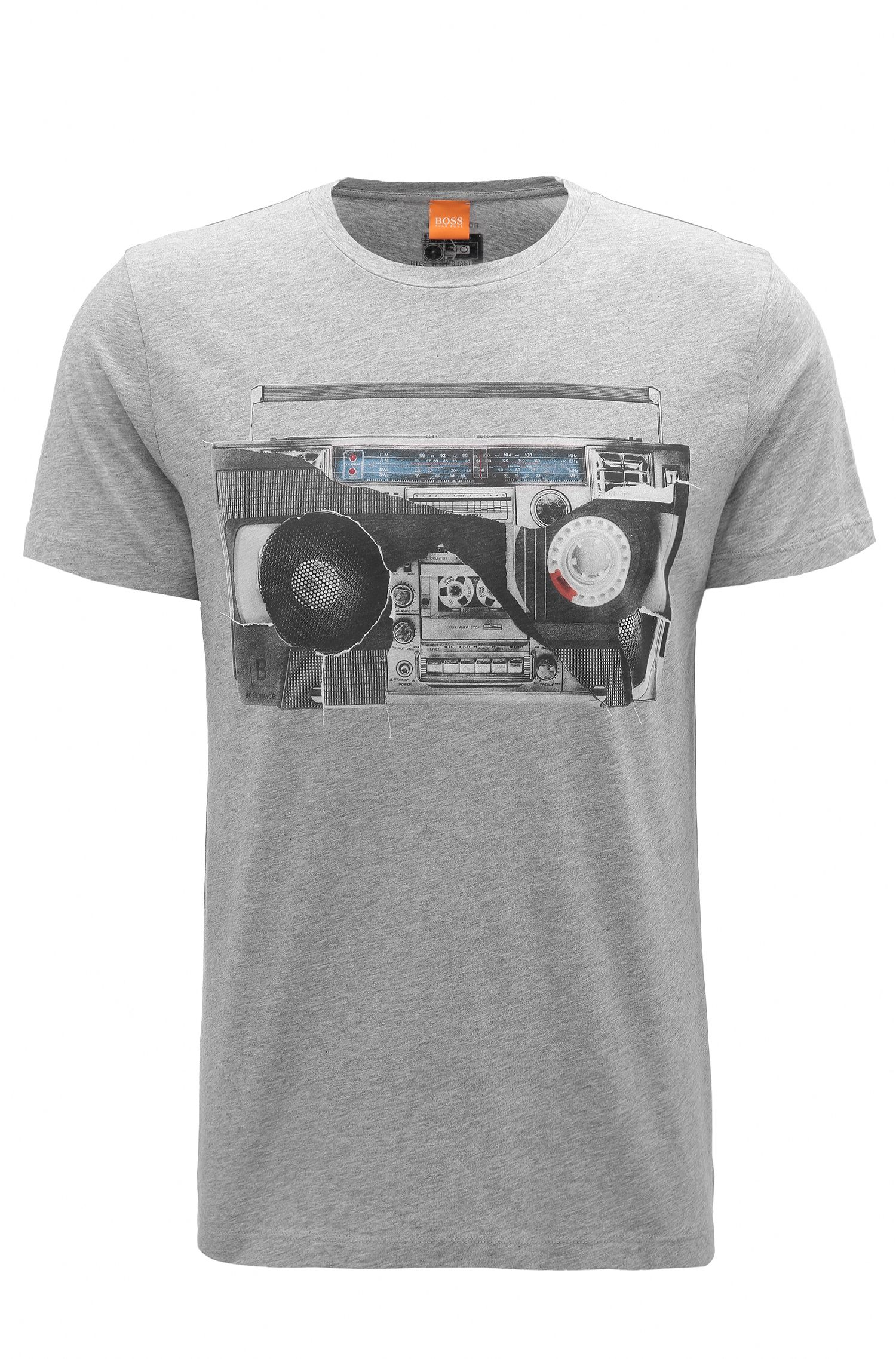 T-shirt regular fit in jersey di cotone con stampa digitale