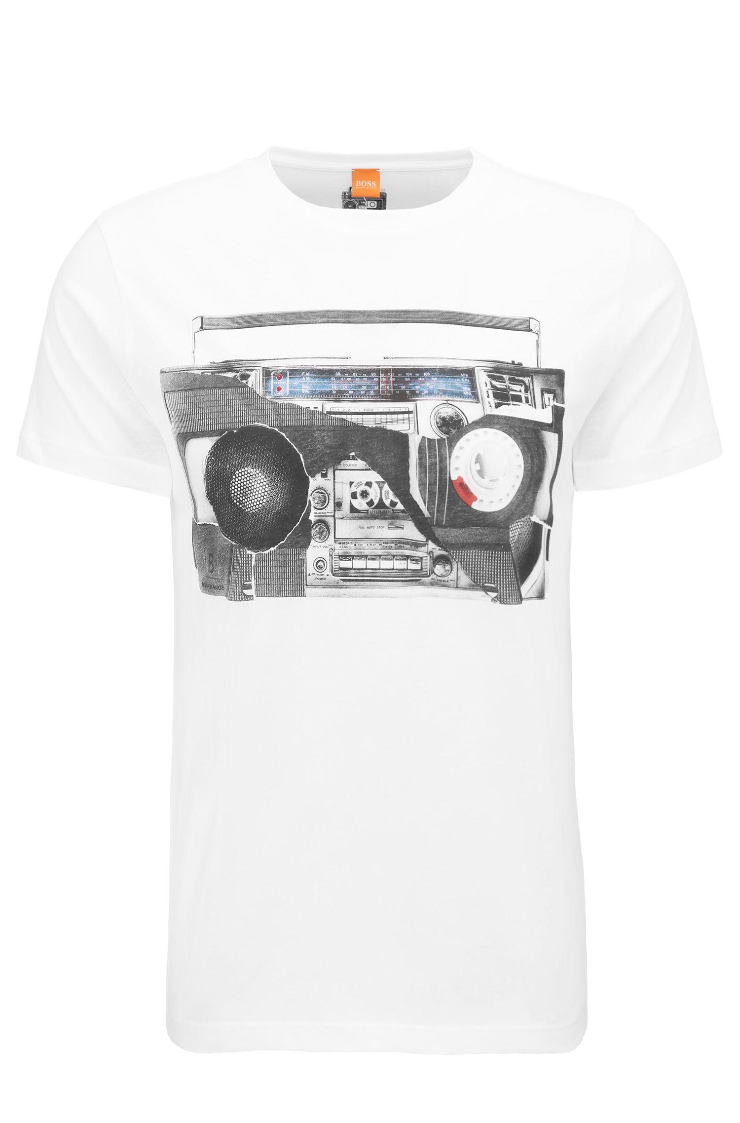 Regular-fit jersey cotton T-shirt with digital print