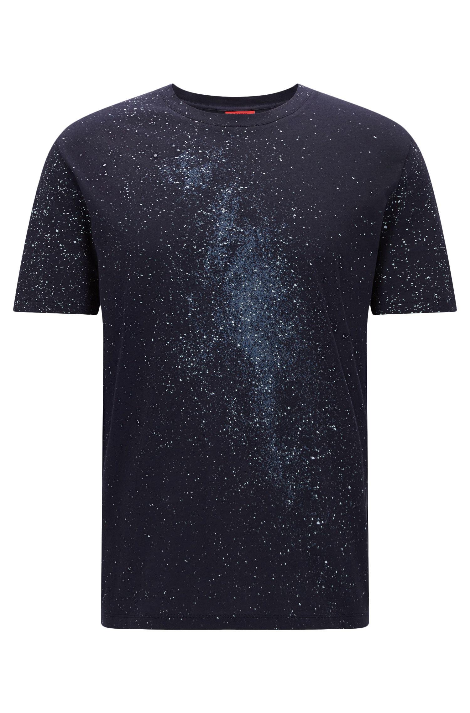 T-shirt en coton Oversized Fit à imprimé Voie lactée