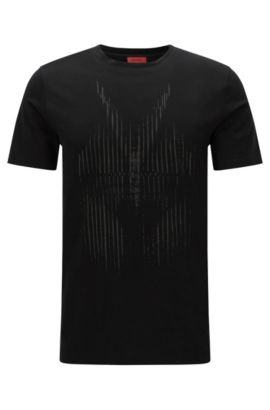 Relaxed-fit T-shirt with statement print, Black