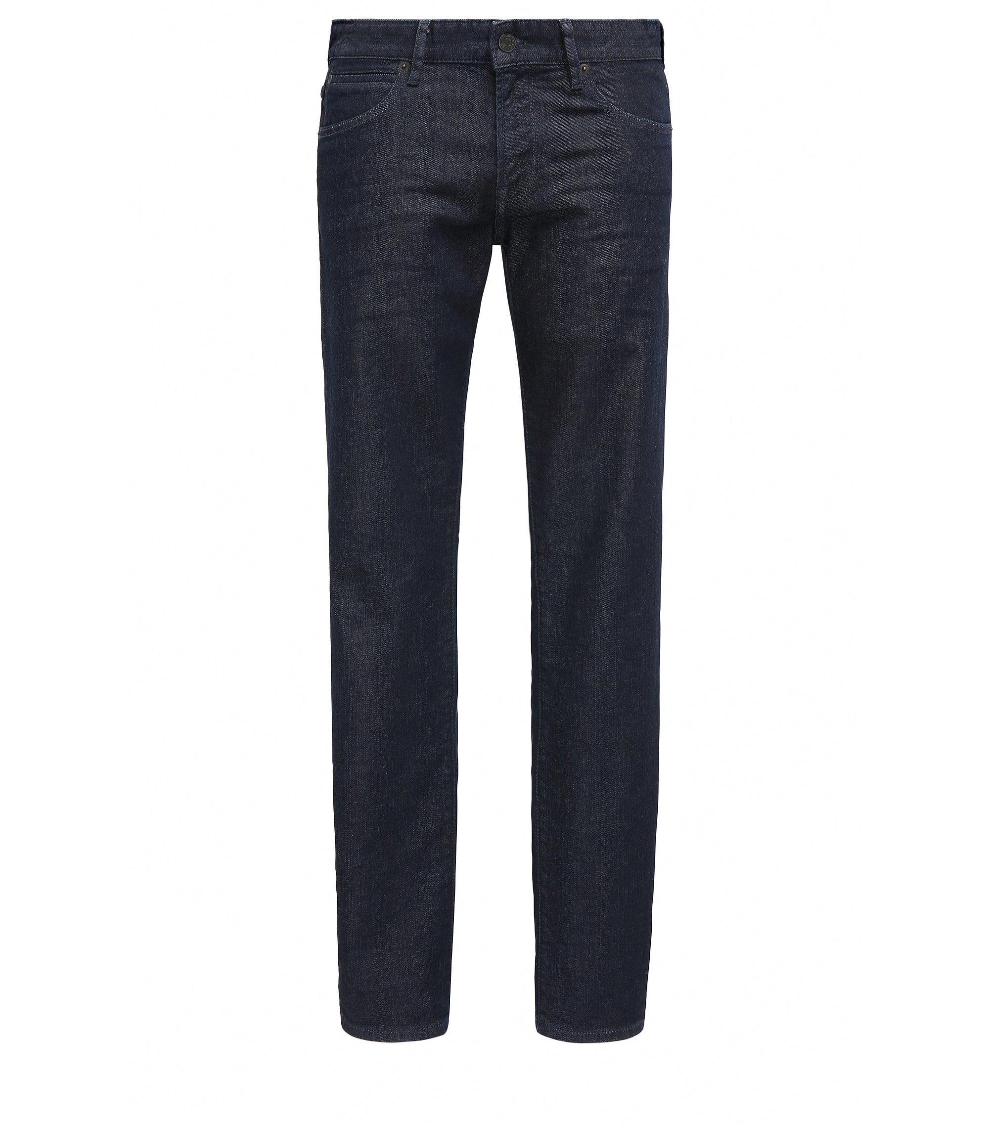 Jeans Regular Fit en denim stretch, Bleu foncé