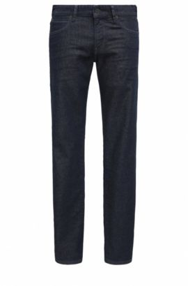 Regular-Fit Jeans aus elastischem Denim, Dunkelblau