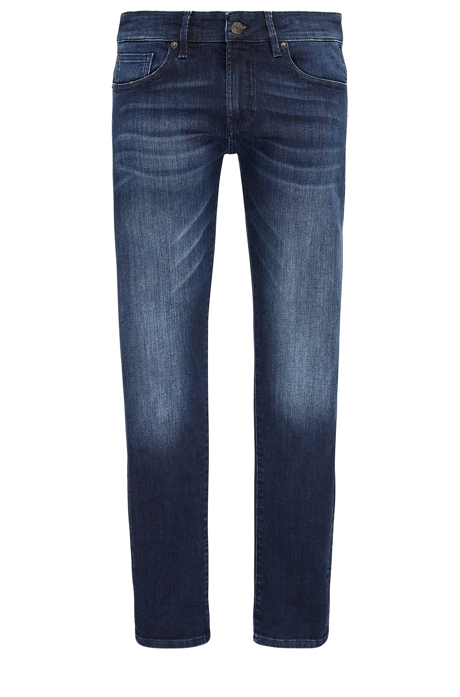 Skinny-fit jeans van super-stretchdenim met used-finish