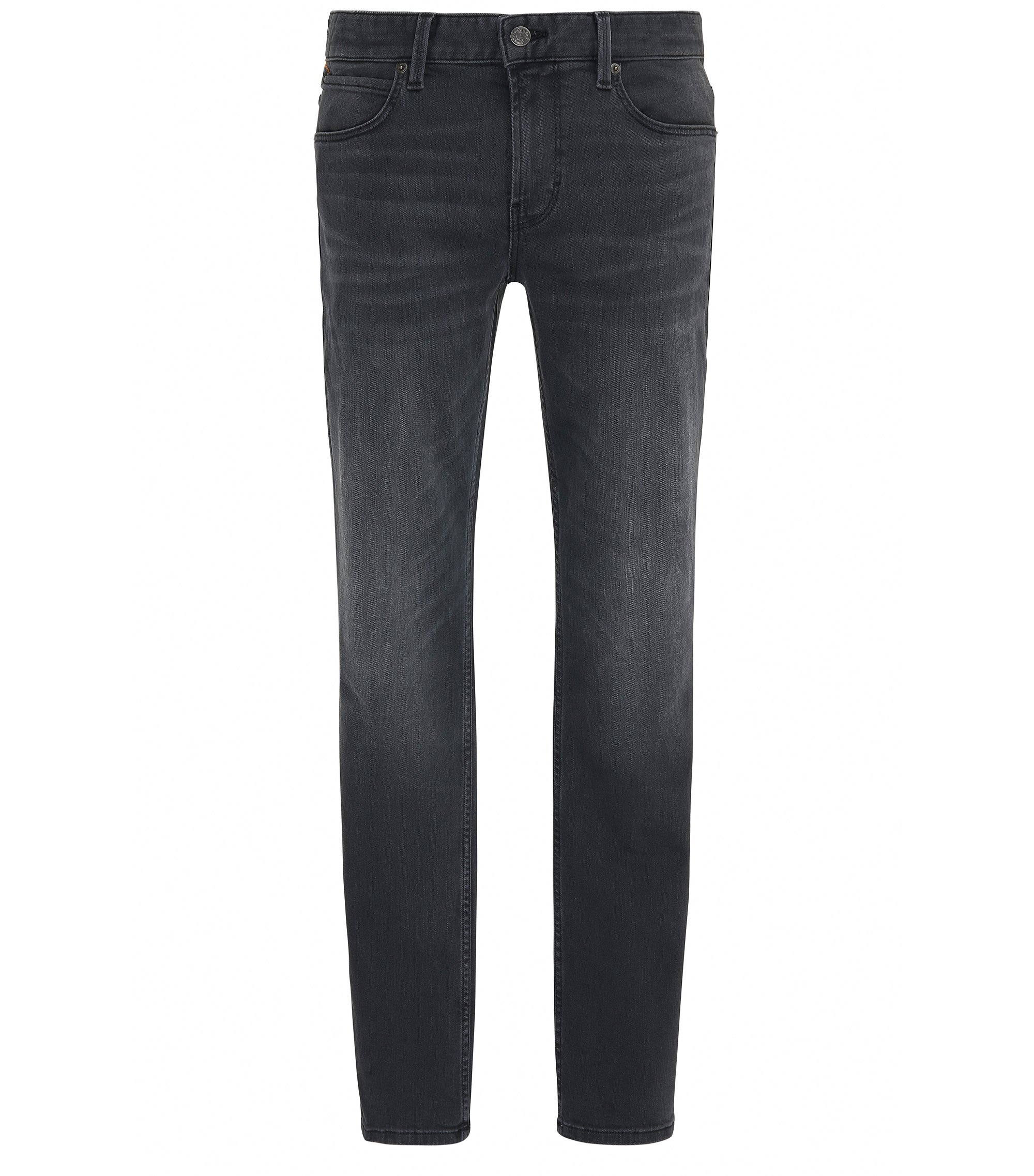 Slim-Fit Jeans aus Stretch-Denim, Schwarz