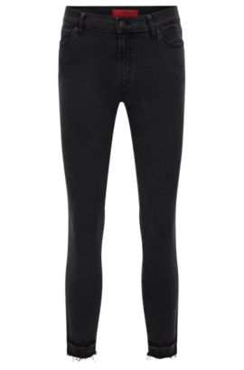 Jeans extra slim fit in denim super elasticizzato, Nero