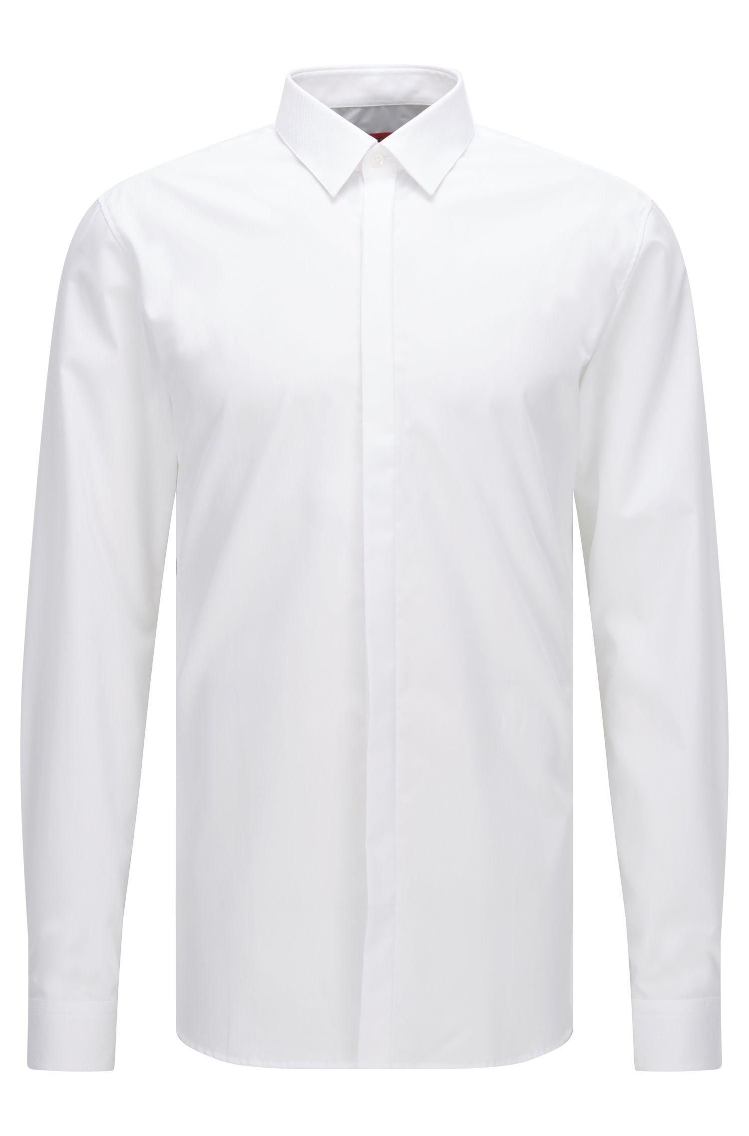 Extra slim-fit overhemd van zuivere katoen
