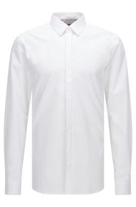 Extra Slim-Fit Hemd aus reiner Baumwolle, Weiß