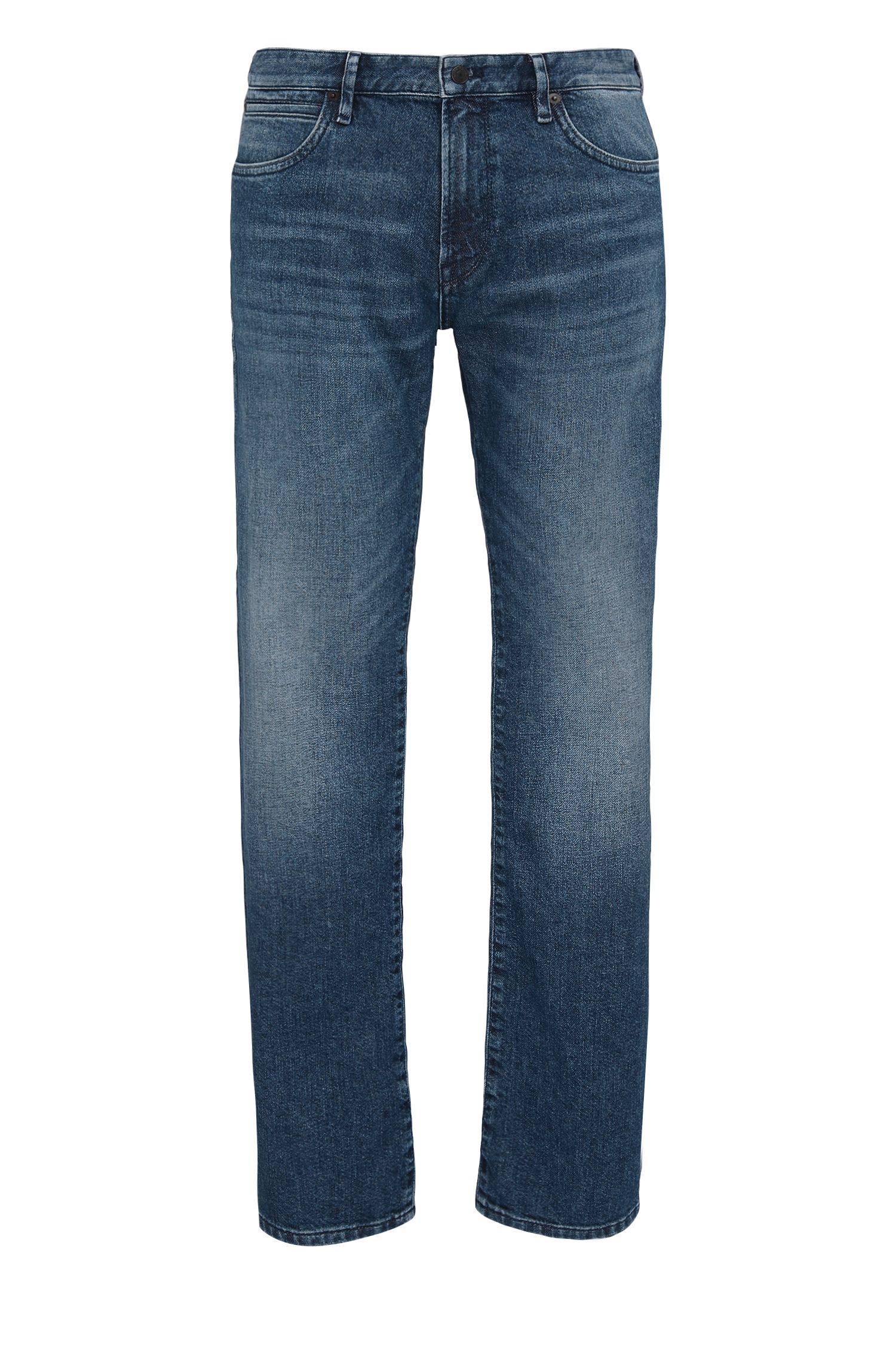Regular-fit jeans in mid-weight cotton blend