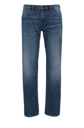 Jeans regular fit in misto cotone di medio peso, Blu scuro