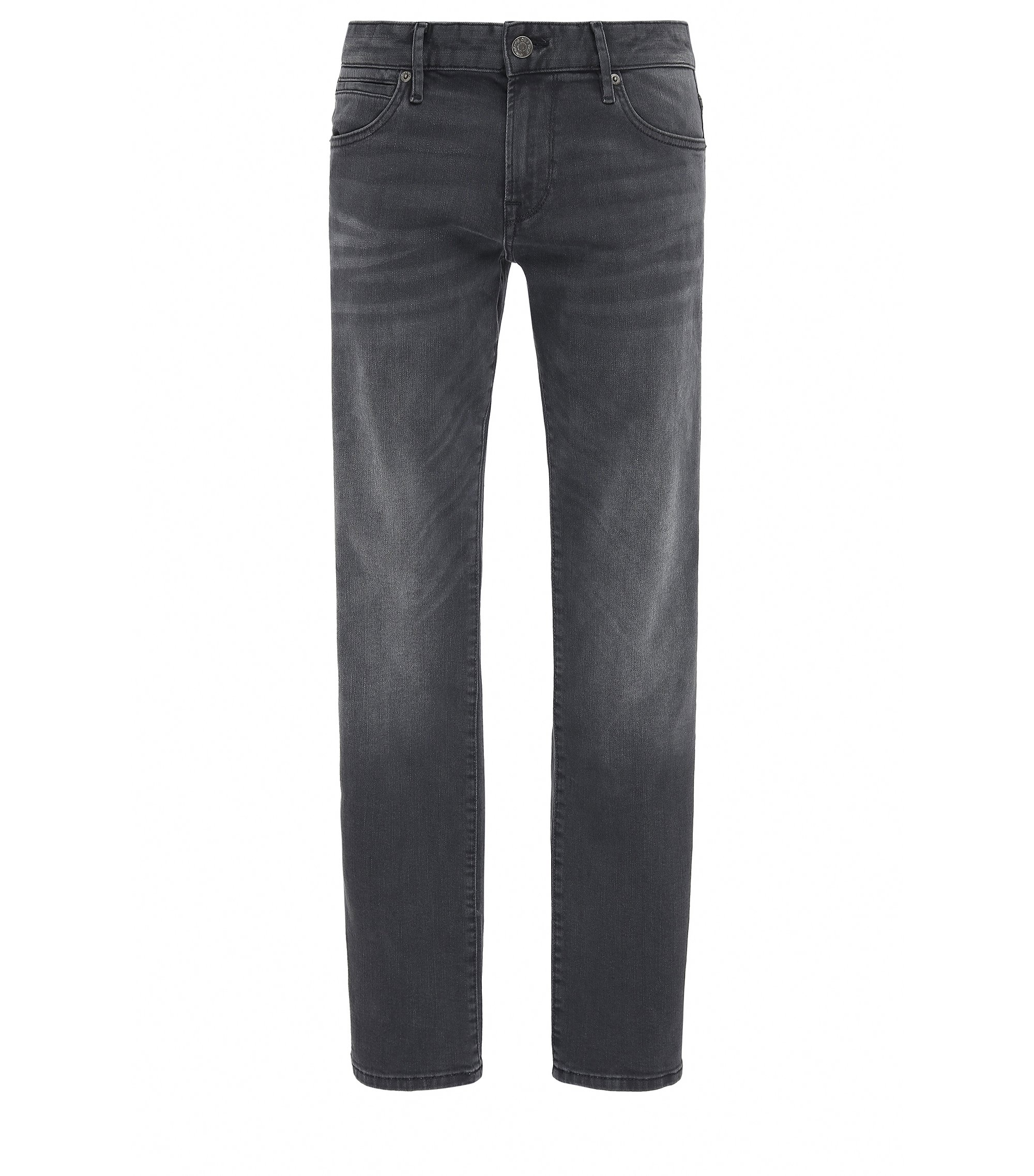 Regular-fit jeans van super-stretchdenim, Zwart