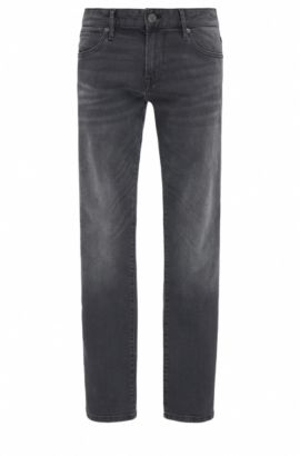 Regular-fit jeans in super-stretch denim, Black