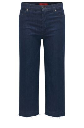 Jeans slim fit in denim super elasticizzato, Blu scuro