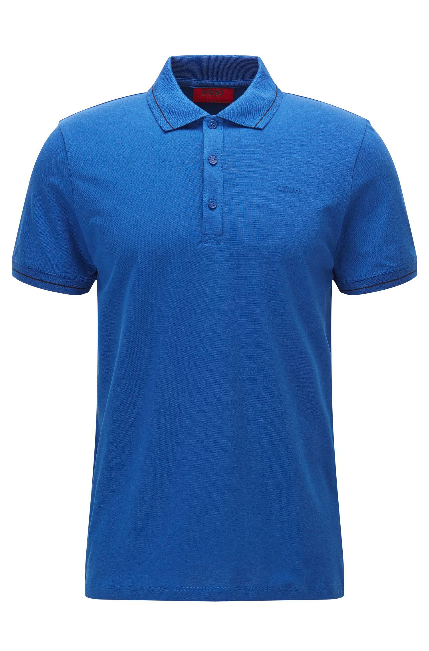 Slim-Fit Poloshirt aus leichtem Baumwoll-Mix mit Elasthan