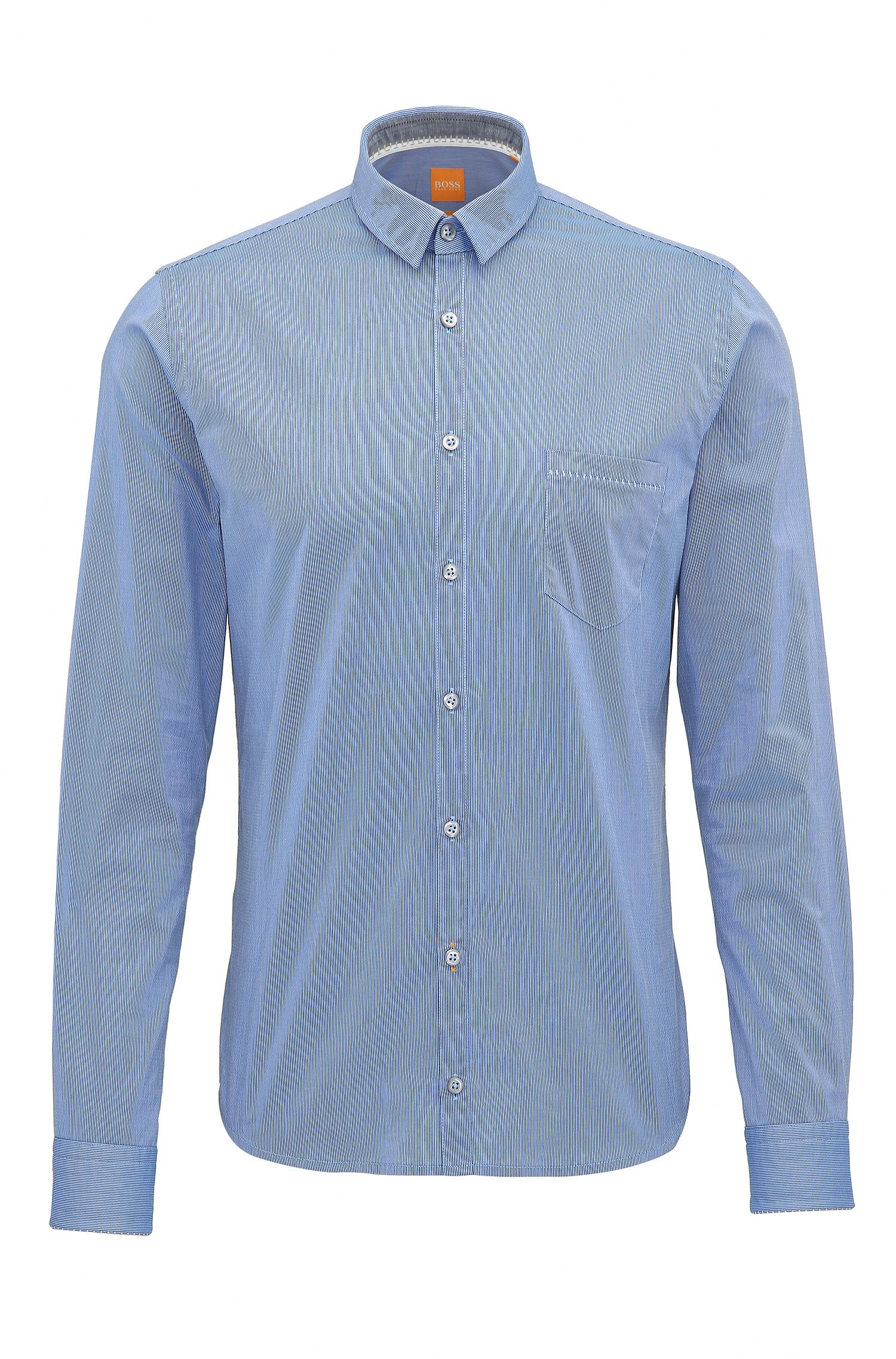 Extra-slim-fit shirt in dobby cotton