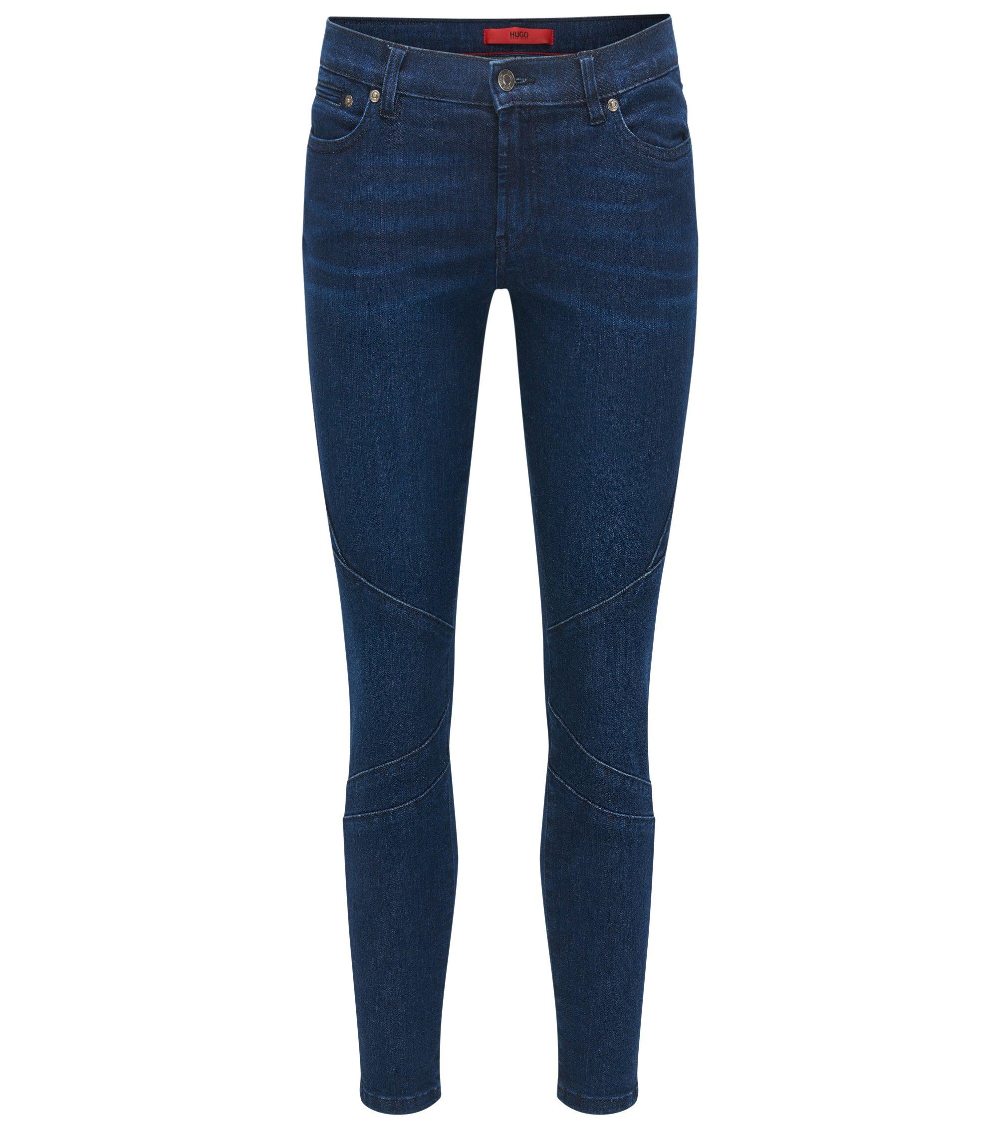 Skinny-Fit Jeans aus Super-Stretch Denim, Blau