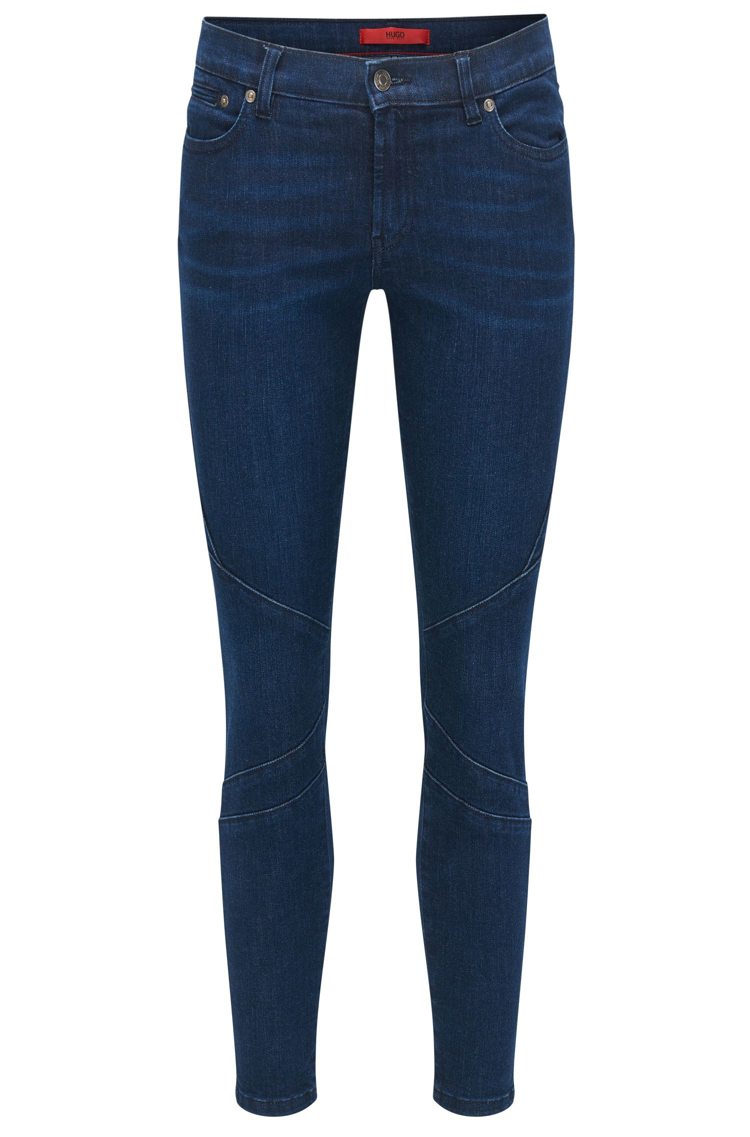 Jeans skinny fit in denim super elasticizzato