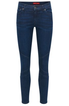Jeans skinny fit in denim super elasticizzato, Blu