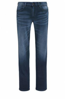 Slim-fit jeans van Italiaanse denim, Donkerblauw