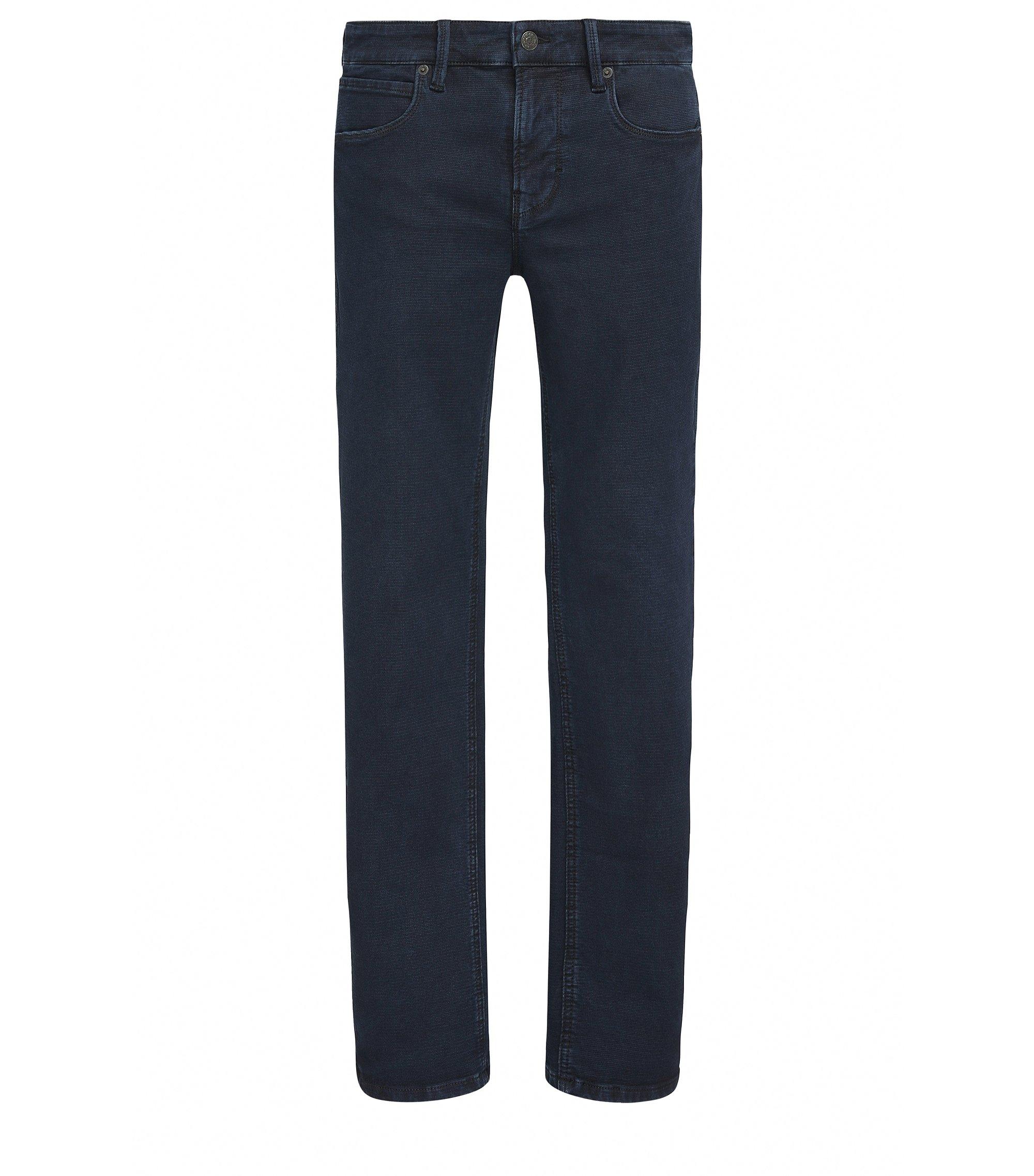 Jeans Slim Fit en denim dobby stretch , Bleu foncé