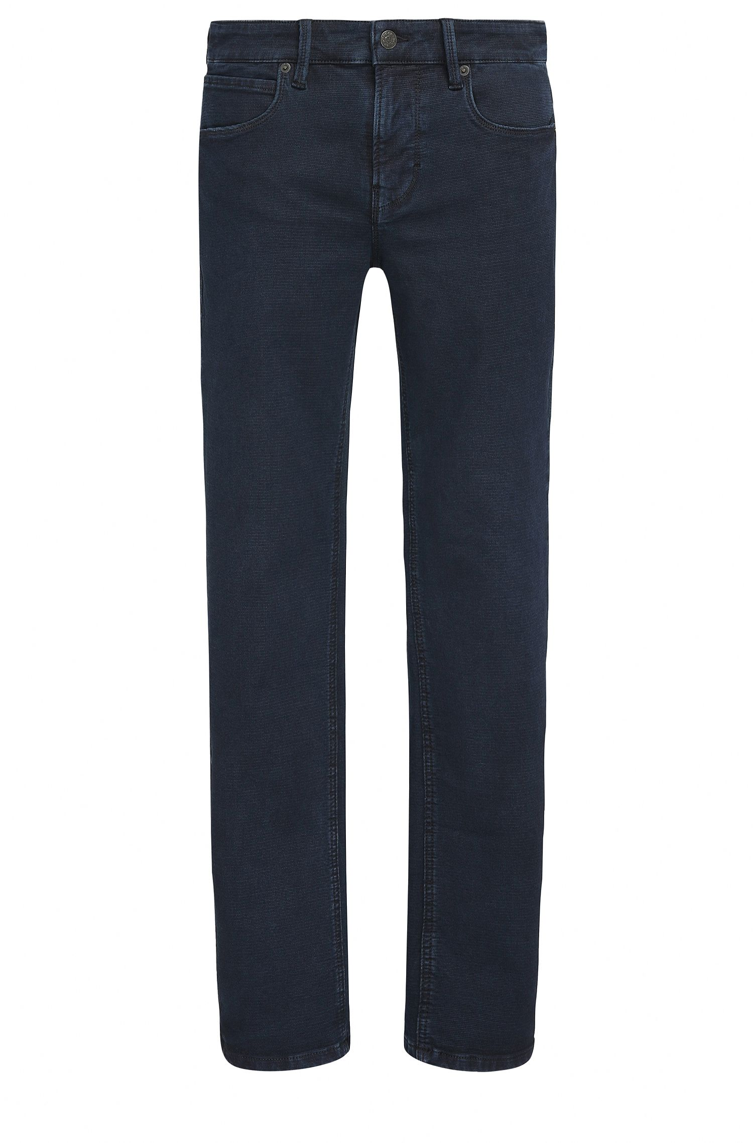 Jeans slim fit in denim dobby elasticizzato