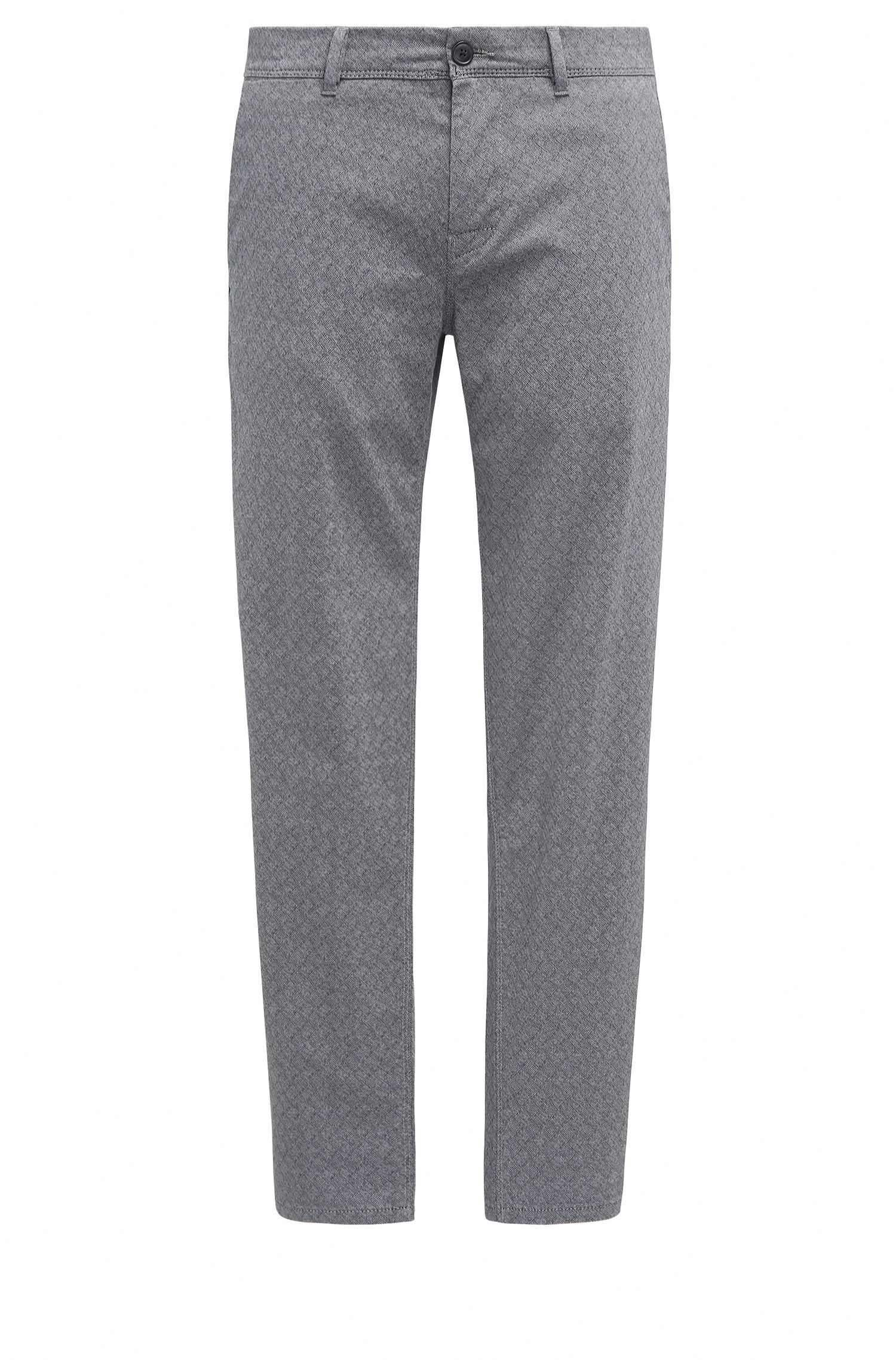 Pantalon Tapered Fit en coton stretch