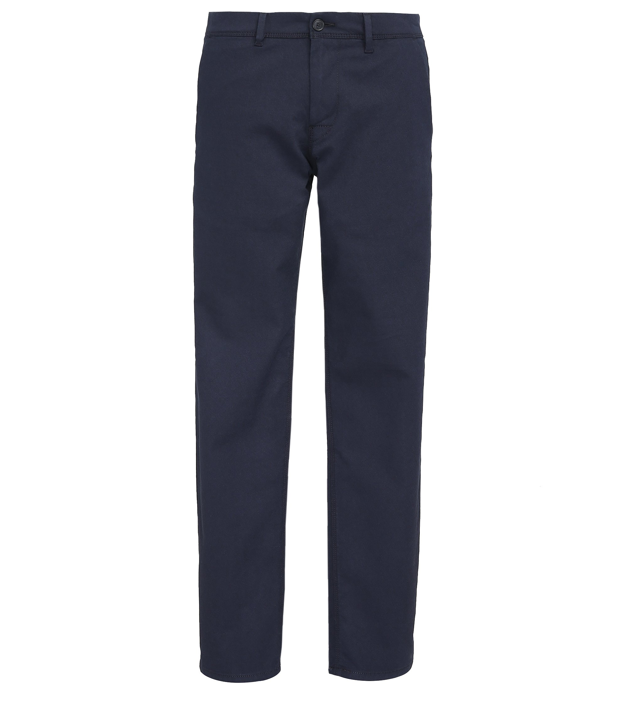 Pantalon Tapered Fit en coton stretch, Bleu foncé
