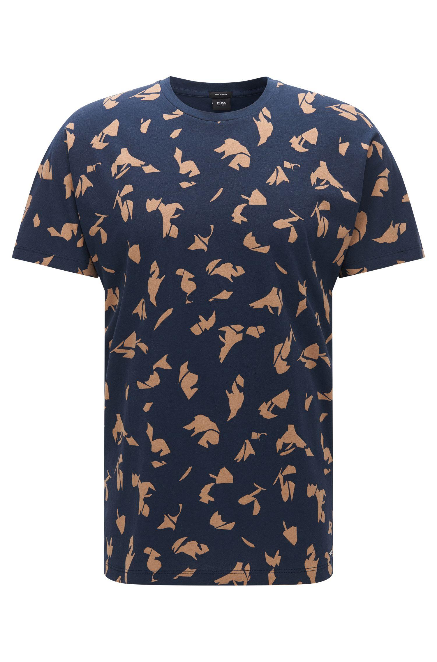 T-shirt en coton Regular Fit orné d'un imprimé de saison