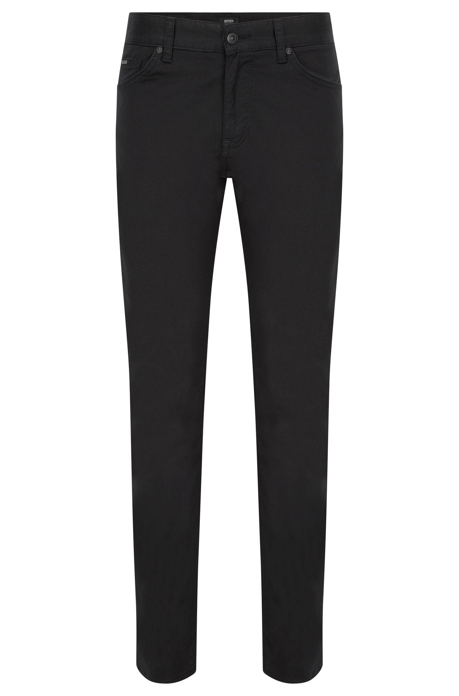 Regular-fit jeans van stretchdenim met technisch effect