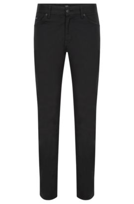 Regular-fit stretch denim jeans with technical effect , Black