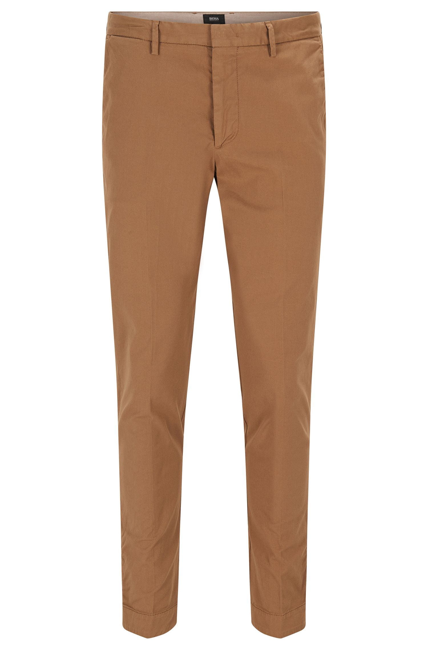 Slim-fit chinos in garment-dyed gabardine