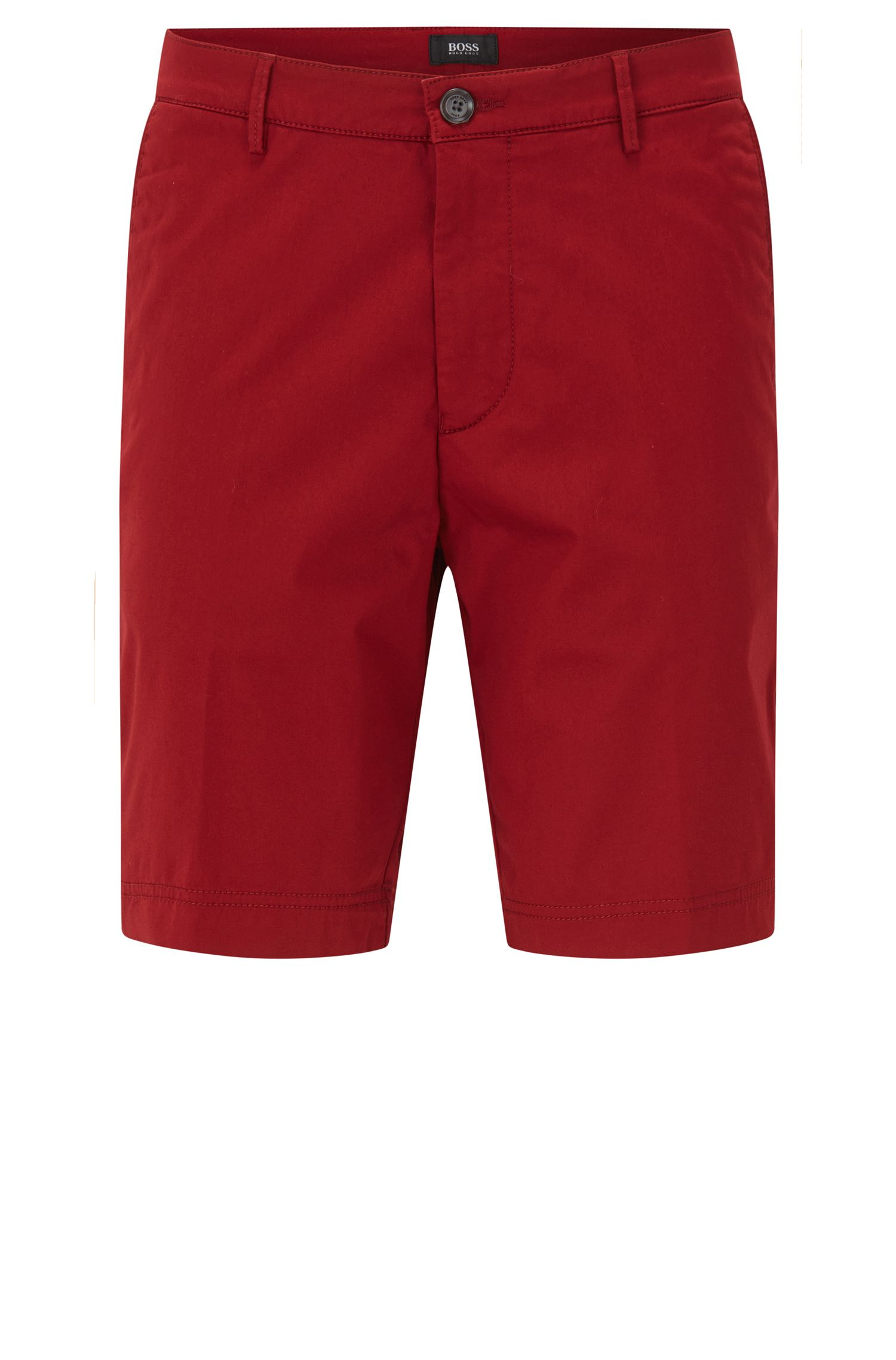 Regular-Fit Shorts aus merzerisierter Stretch-Baumwolle