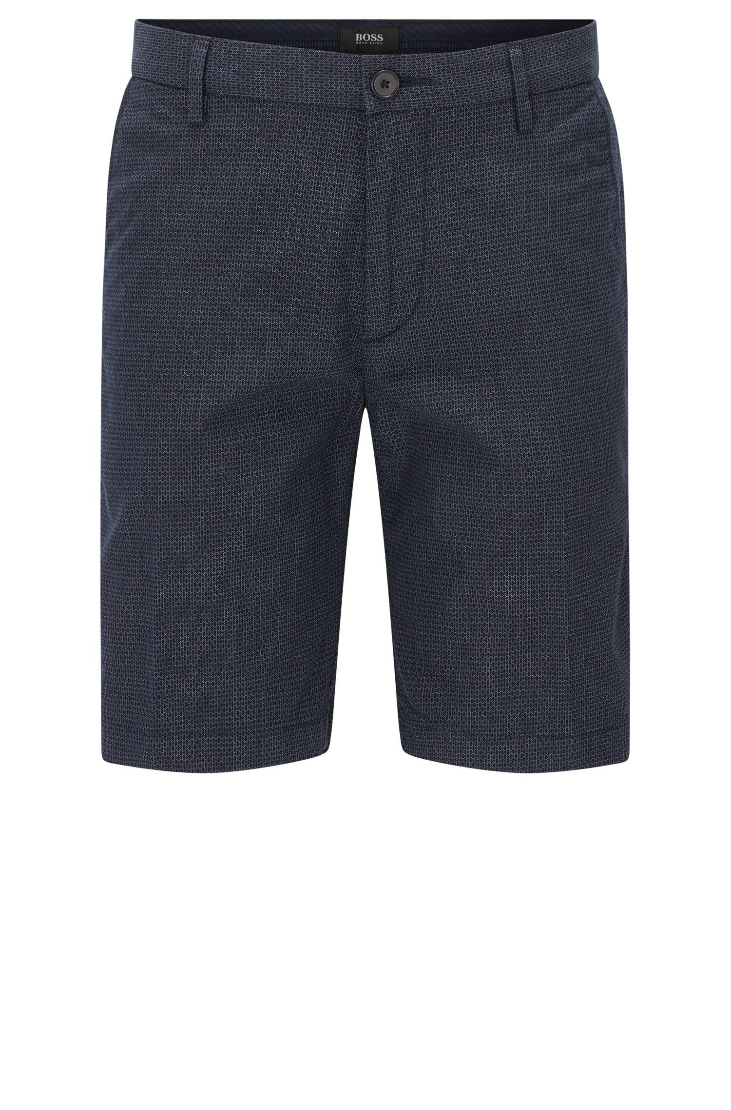Short Slim Fit en coton stretch à motif3D