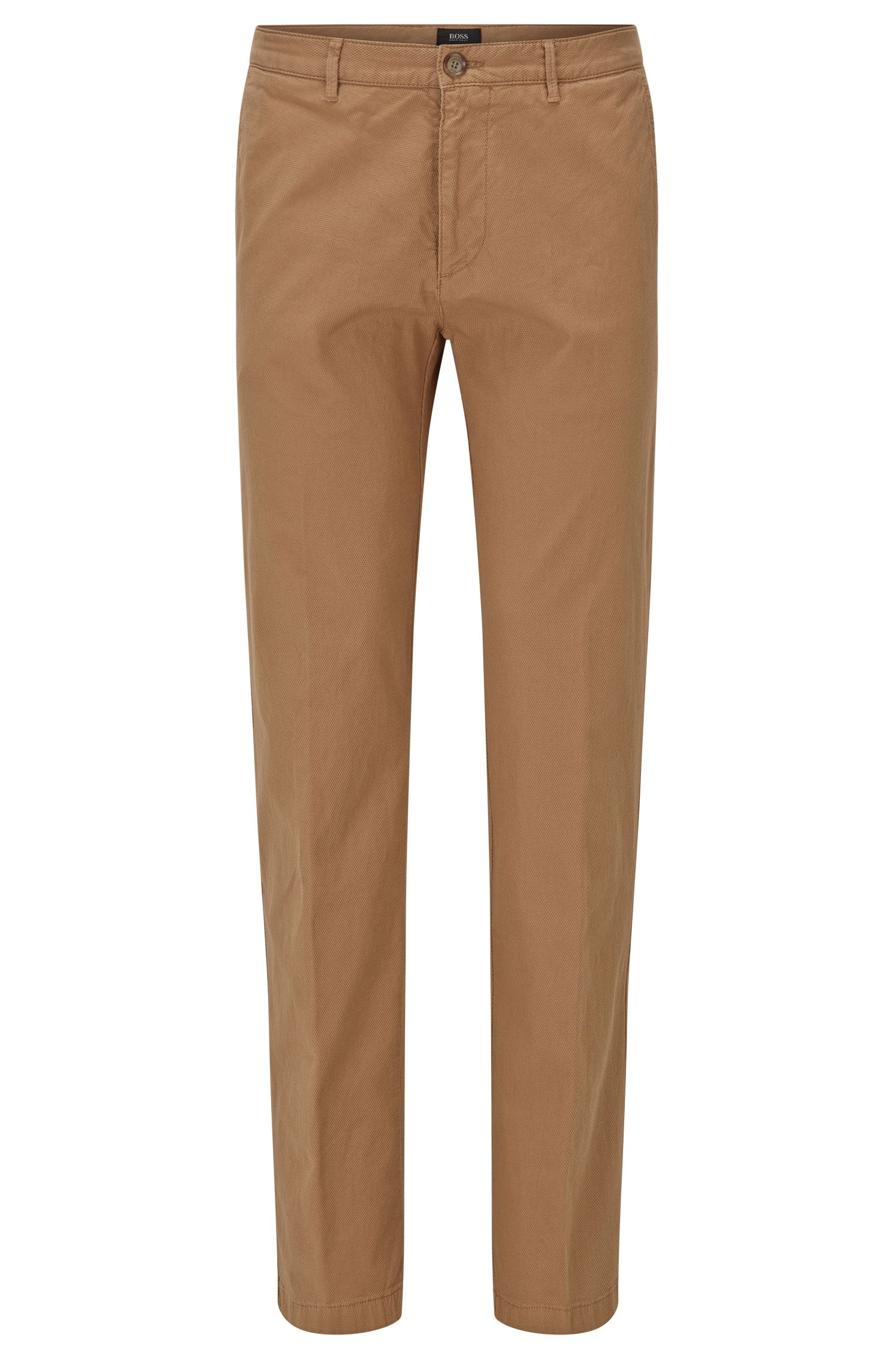 Regular-fit chinos in Italian stretch cotton