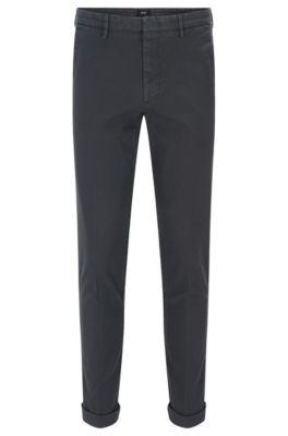 Slim-Fit Chino aus elastischer Baumwolle, Dunkelgrau