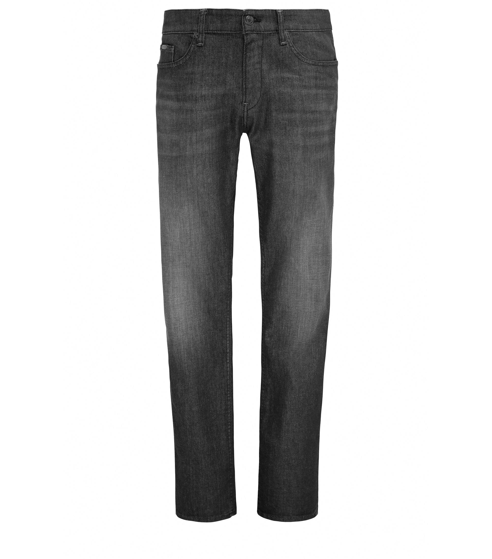 Slim-fit jeans in comfort-stretch denim, Anthracite