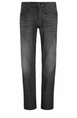 Slim-fit jeans in comfort-stretch denim, Anthracite