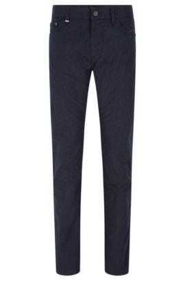 Regular-fit jeans van Italiaanse microstof, Donkerblauw