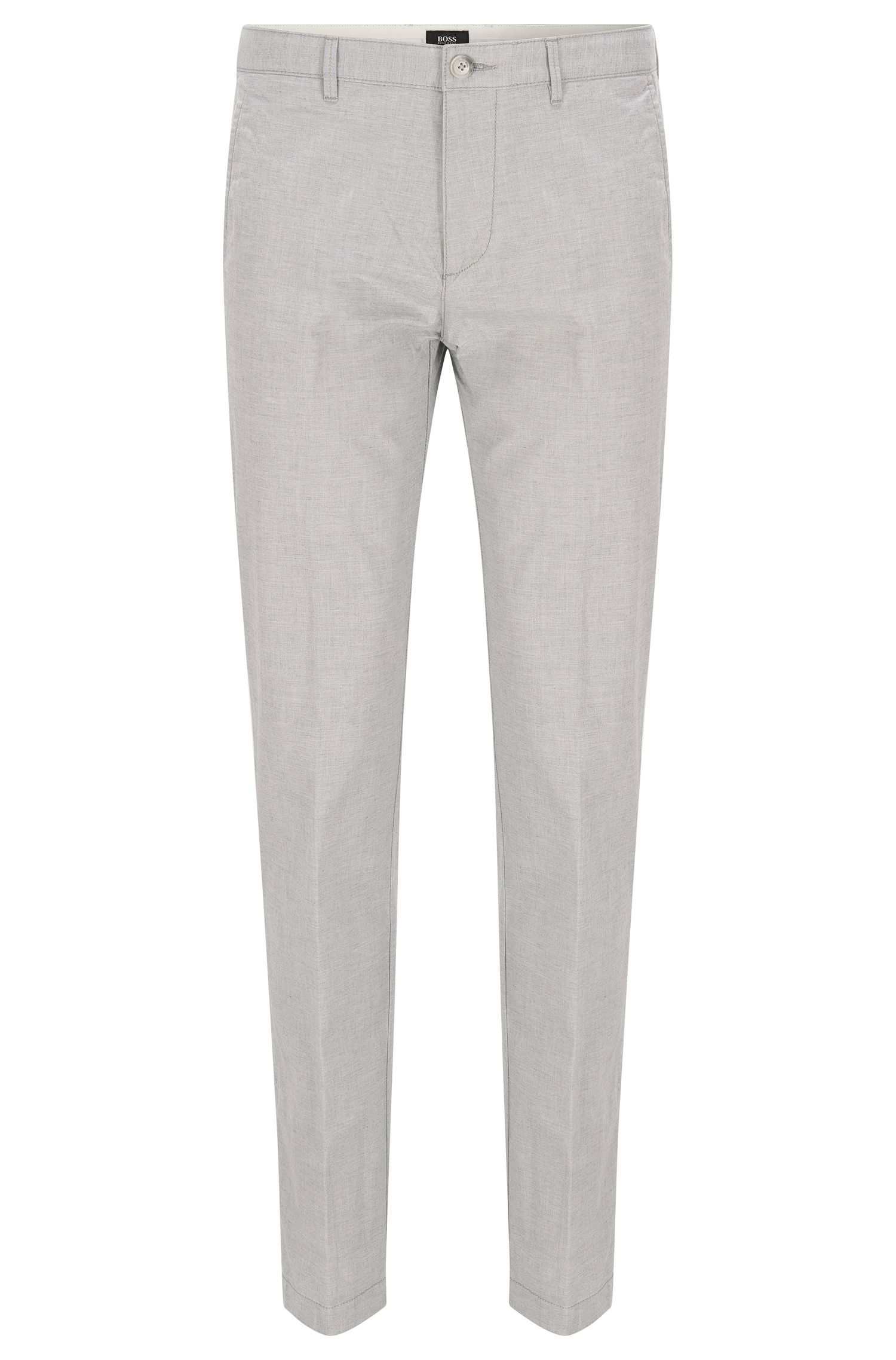 Regular-fit chinos with diamond-brush finish