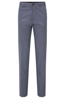 Regular-fit chinos with diamond-brush finish, Dark Blue