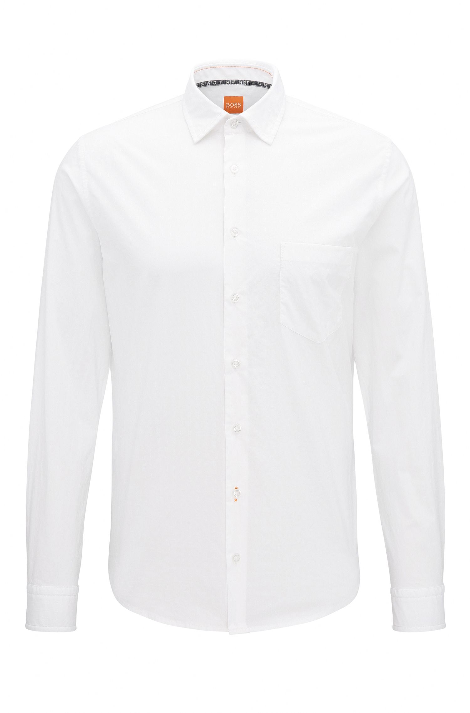 Chemise Slim Fit en coton dobby stretch
